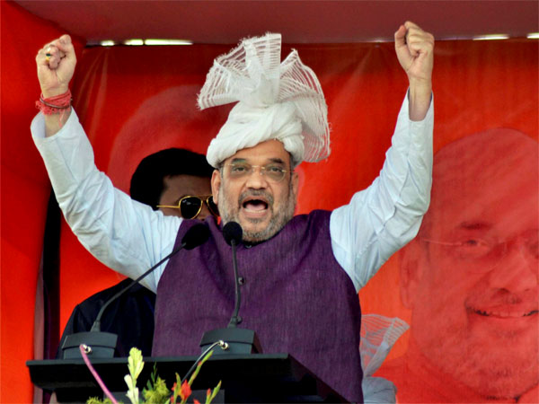 Elections 2018 Amit Shah Shows Off His Mimicry Talent Imitates Rahul Gandhi