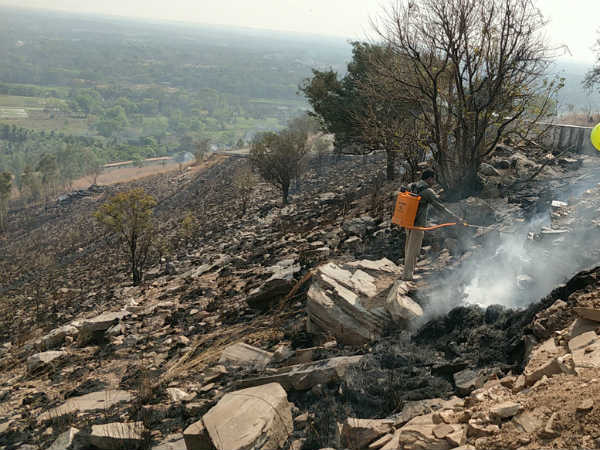 Some People Set Fire To Kargighatta Hill Mandy