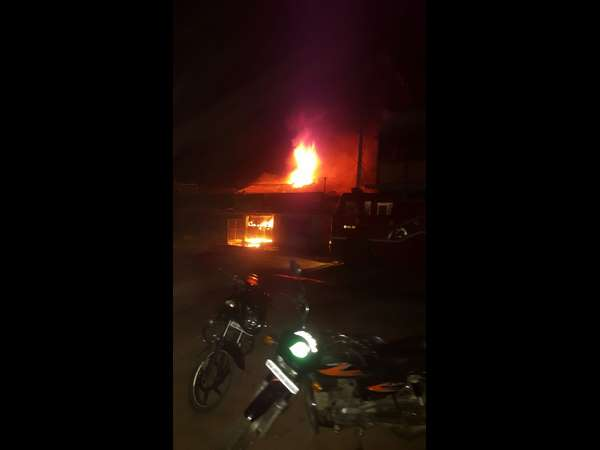 Fire engulfs shop in Ramanagara causes 2 lakh loss