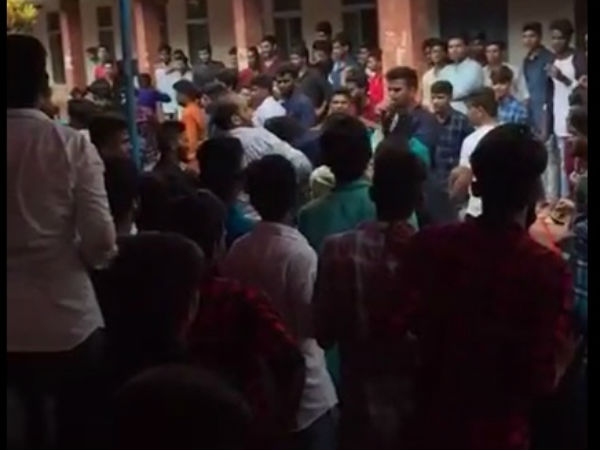 fight between students in Koppa degree college