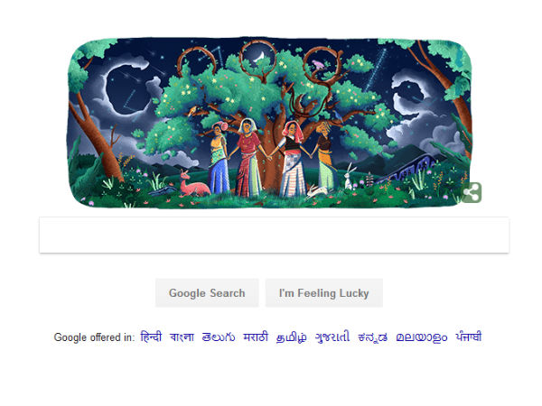 Google Doodle: 45th anniversary of Chipko movement