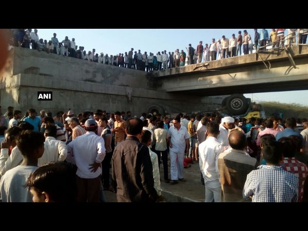 Many Killed In Gujarat After Truck Falls Into Drain