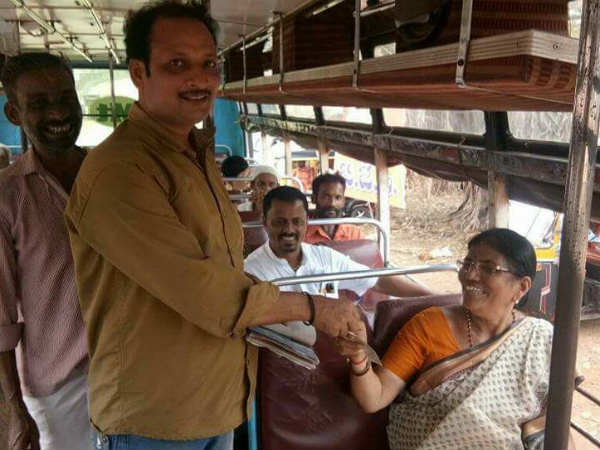 Code of conduct effect, MLA Shakuntala Shetty travels in bus instead of govt car