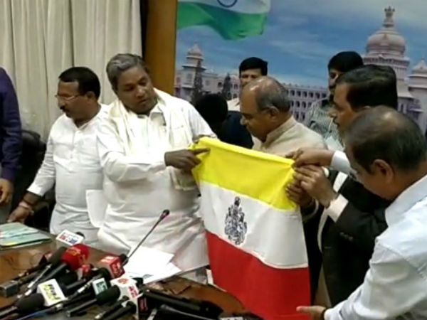 Opinion : How Can CM of Karnataka miss Sathya Meva Jayante from Official Kannada Flag