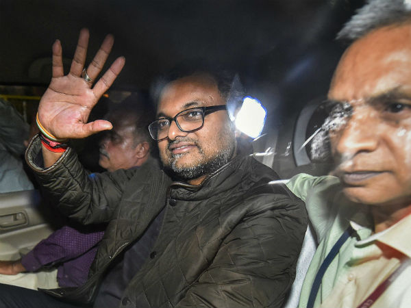 Karti sent to CBI custody in INX Media case till March 9