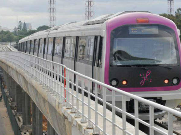 Platform extension work to facilitate Metro