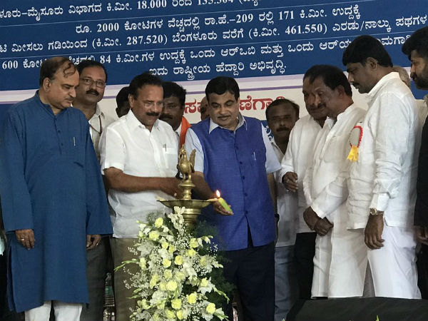 Foundation stone for 6 lane of Bengaluru-Mysuru highway