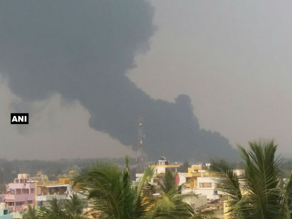 Fire Broke Out At Banashankari Oil Factory In Kolar