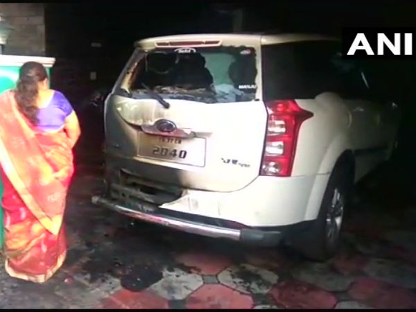 Petrol bomb hurled at BJP leaders car in Coimbatore