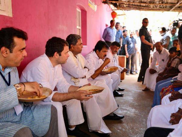Rahul Gandhi Eats Neer Dose In Udupis Thenka Yermal