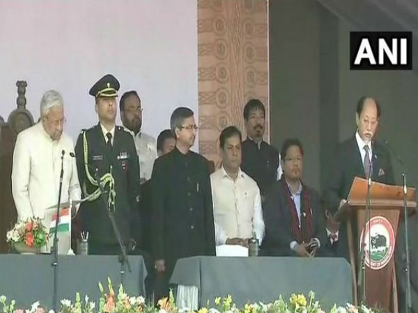 Neiphiu Rio takes oath as chief minister of Nagaland