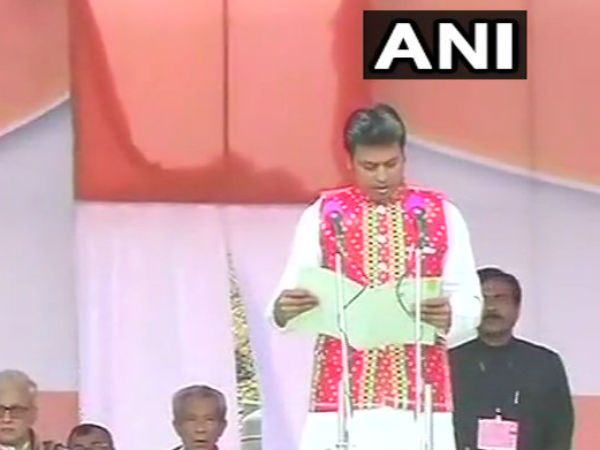 Agartala: Viplav Dev takes oath as Chief Minister of Tripura
