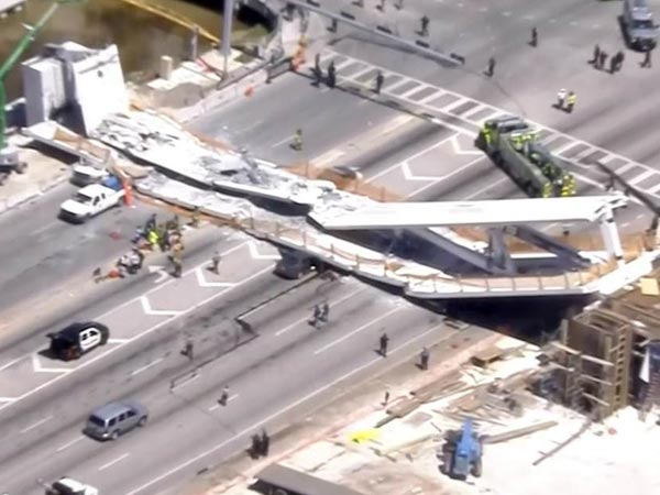 Florida Several Killed After New Pedestrian Bridge Collapse