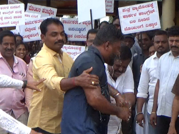 Supporters of Uday Kumar Shetty expressed their disappointment