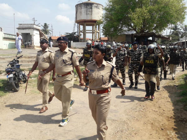 Paramilitary Forces Come To Mandya For Karnataka Assembly Elections