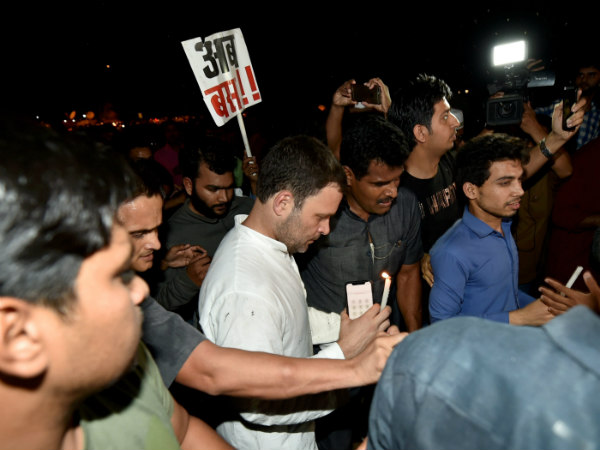 Midnight march: Rahul urges Centre to act against atrocities on women