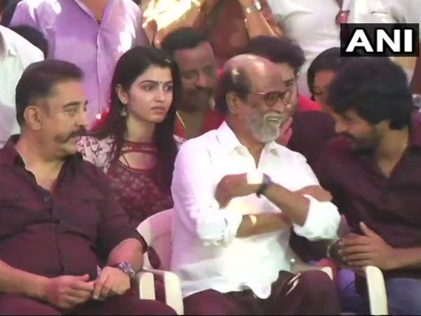 Cauvery Management Board Rajinikanth Kamal Hassan Takes Part In Protest