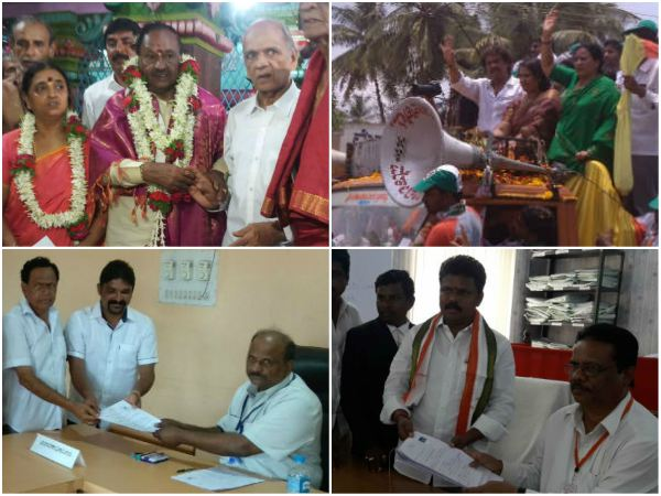 Filed Nomination Various Sides In Karnataka State