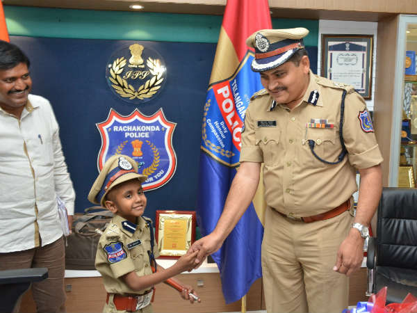 6 Year Old Boy Ishan Becomes Rachakonda Police Commissioner For A Day