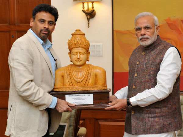 Tribute To Basaveshwara Statue London By Prime Minister Narendra Modi