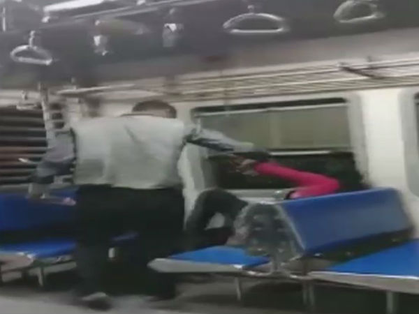 Viral Video Man Molesting A Woman In Train In Mumbai