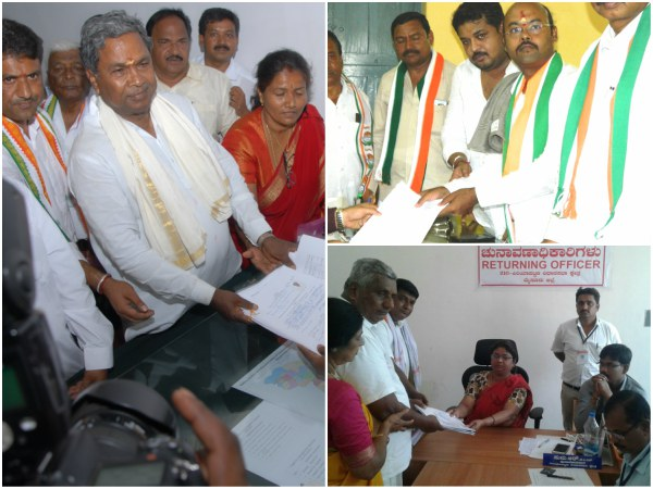 Nomination Files In Mysore District Including Cm And Yatindra