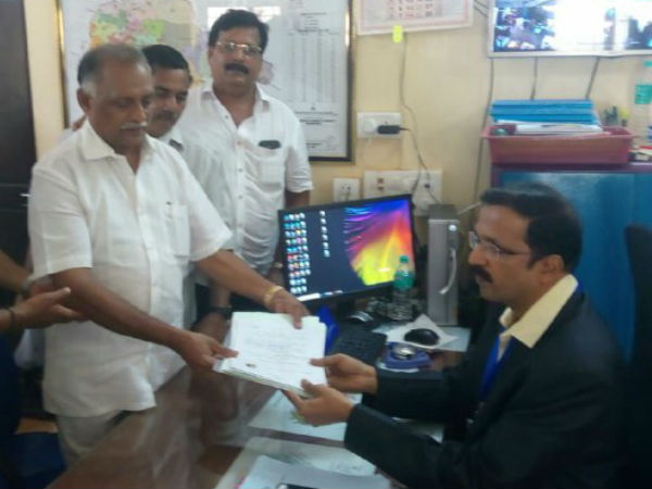 Abhayachandra jain files nomination in Mulky Moodbidre constituency