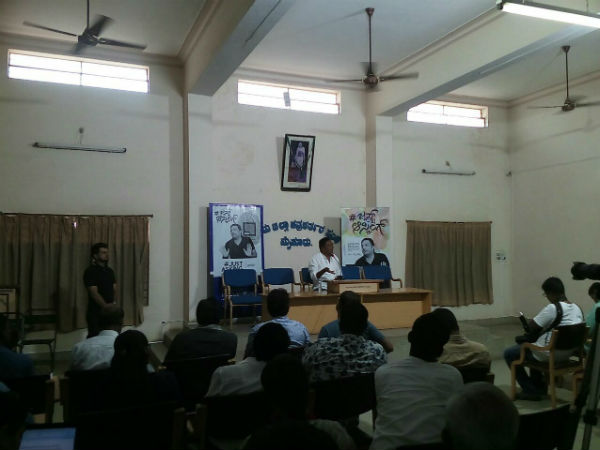 Actor Prakash Rai addressing media at mysore