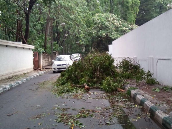 Parts of Bengaluru witness heavy rain fall