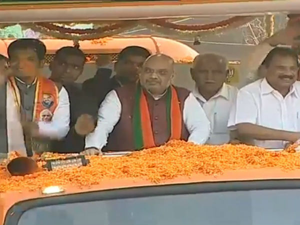 Karnataka Elections Amit Shah Make Road Show In Hosakote