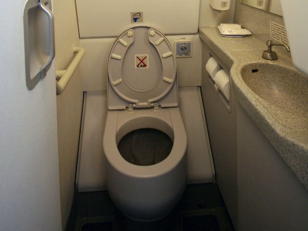 KSRP vehicle fitted with toilet