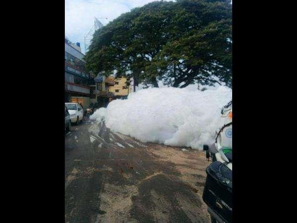 Varthur Lake Spills Foam Again