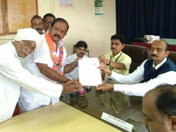 Karnataka Elections Bjp Candidate Files Nomination Today