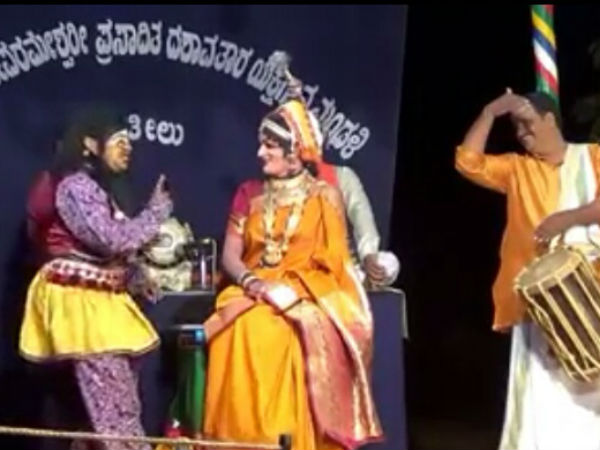 election commission issue notice to Yakshagana artiste and took back