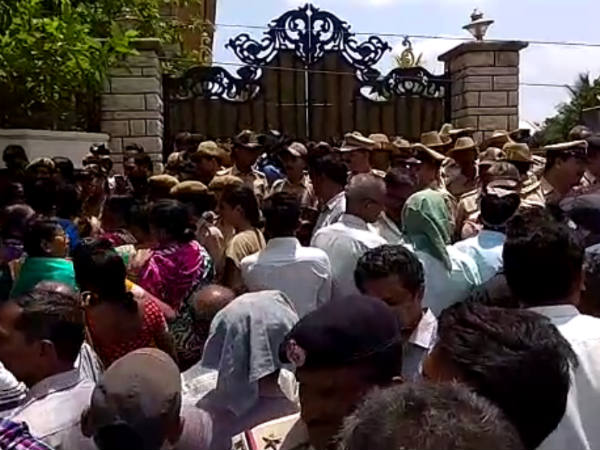 Public has besieged producer Anand Appugols house.