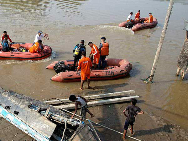 A boat carrying around 40 people capsized in Godavari River