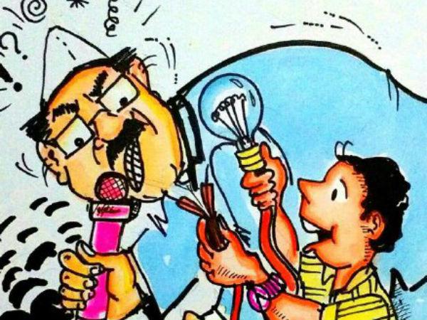 Election Cartoon Humor In Politicisns Speech