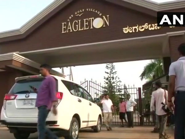 Security withdrawn from Eagleton Resort, where Congress MLAs are lodged