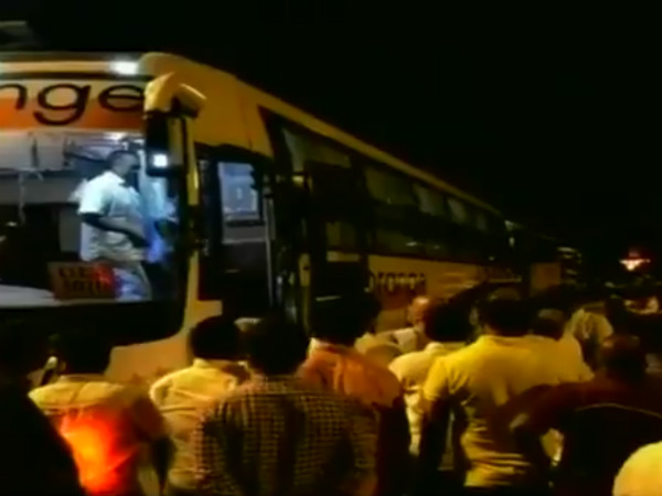 Congress and JDS Mlas were shifted to Andhra registration bus in midnight