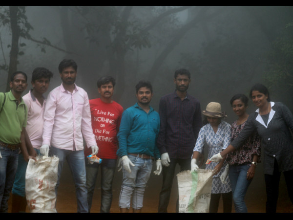 Swachchhata Abhiyan in Forest by Young Poets of Mudigere
