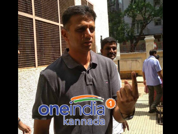 Karnataka assmbly elections 2018: Cricketer Rahul Dravid cost his vote at Indira nagar