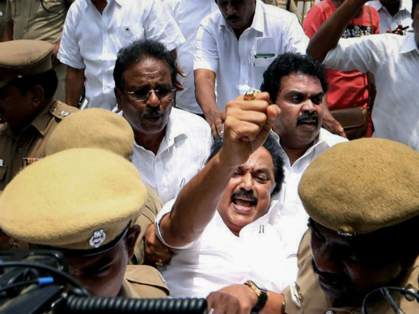 Anti Sterlite Protest Stalin Detained Outside Tamil Nadu Secretariat