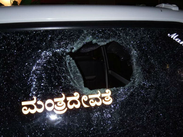 Stone pelting during BJP victory procession