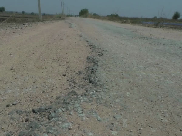 Approved road work is not yet built in google village