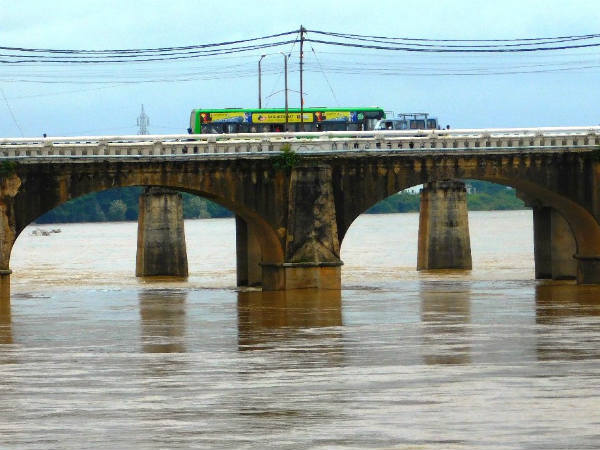 Most of the reservoirs of Shimoga are filled by heavy rainfall.