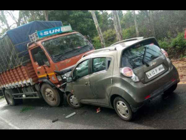 Woman dies in Car-Lorry collision near Madikeri