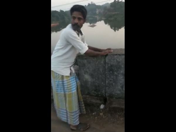 Video of Hameed about Mularpatna Bridge gone viral