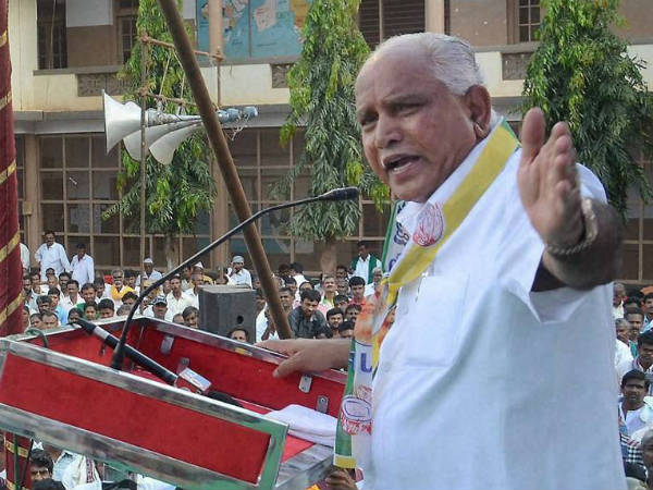 Plan by father-son to finish Congress: B S Yeddyurappa.