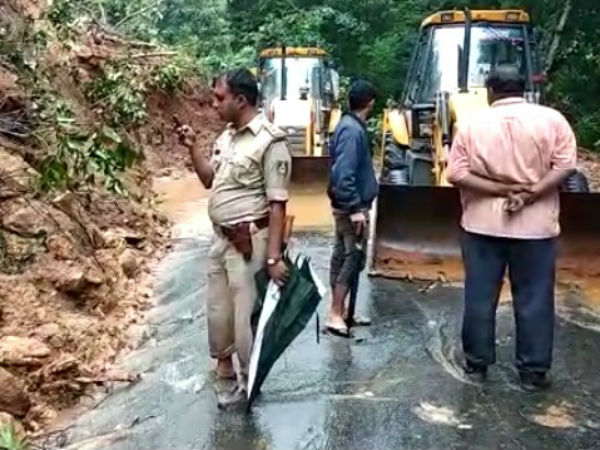 Due to landslide Charmadi ghat road closes on June 13th and 14th
