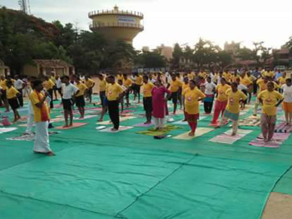 MLA Poornima Says practicing yoga can increase the health of everyone in life.